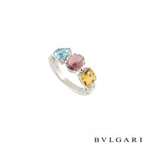 Bvlgari White Gold Multi-Gemstone Allegra Ring